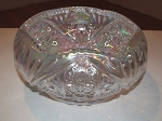 Smith Glass Co. White Carnival Glass Bowl